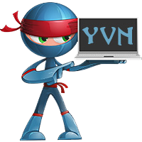 Your Video Ninja Logo with Laptop